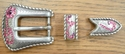 1140401084 Rhinestone Belt Buckle Set 3/4""