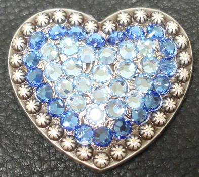 1181859922 Capri Blue and Aquamarine Rhinestone Heart Concho