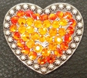 1181860676 Heart Sun and Fire Opal Rhinestone Concho
