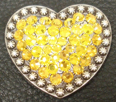 1181861756 Heart Citrine and Light Topaz Rhinestone Concho