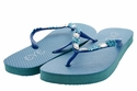 1296 Women Summer Bling Flip Flops Sandals - Blue