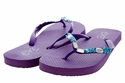 1296 Women Summer Bling Flip Flops Sandals - Purple