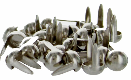"1330-02 Round Spots 1/4"" (0.6 cm) Nickel Plated 100/pk"