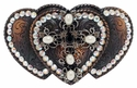 174188990 Cross Belt Buckle With Swarovski Rhinestone