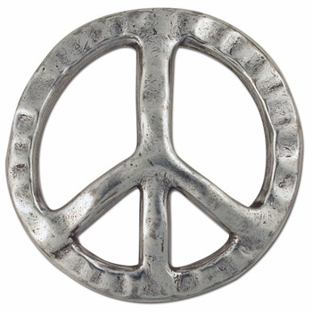 1770-26 Peace Sign Trophy Buckle 1-1-2""