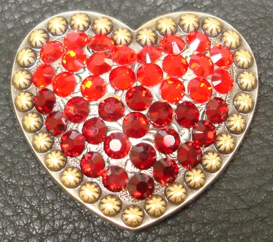 181857221 Heart Light Siam and Siam Rhinestone Concho