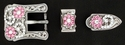 182486616 Rhinestones Buckle Set 3/4""