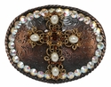 183084666 Swarovski Rhinestone Cross Belt Buckle
