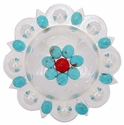 183683032 Berry Concho with Turquoise Size 4 1/4""