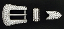 202077522 Crystal Rhinestones Buckle Set 3/4""
