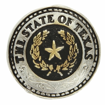 3837 The State of Texas Antique Silver Concho (Rivet Back Concho)