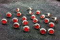 T2202-2P Red   5/16 inches(8.2mm) Synthetic Crystal Gem Round Spots 10/pk