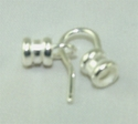 #632-33 s/p Crimp end Hook & Eye [for leather cord ] @10 sets