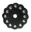 "71497-01 Tandy Leather Rosette W/Round Spots 1-1/2"" (3.8 cm) Black ""Small"""