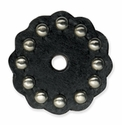 "71498-01 Tandy Leather Rosette W/Round Spots 1-3/4"" (4.4 cm) Black ""Medium"""