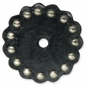 "71499-01 Tandy  Leather Rosette W/Round Spots 2"" (5.1 cm) Black ""Large"""