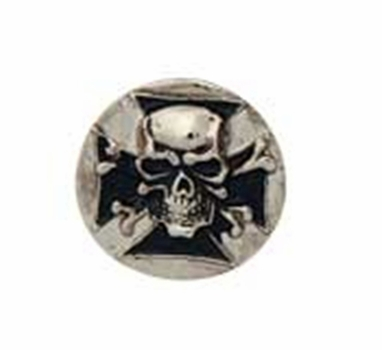 "71502-09 Skull Shield Cycle Concho 1-1/8"" x 1-1/8"""