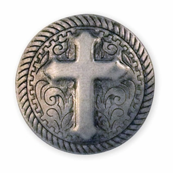 """71506-07  Rope Cross Stamped Steel Concho 1"""" (2.5 cm)"""