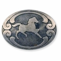 "71506-11 Horse Stamped Steel Concho 1-3/8"" (3.4 cm) x 1"" (2.5 cm)"