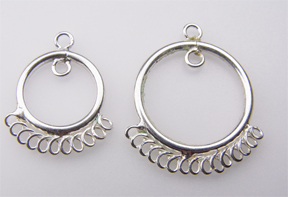 #716-11 s/s multi ring drop 2pcs