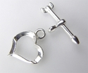 #729-8 s/s toggle[heart] 13mm heart @1 set