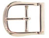 9946-1 NP Solid Brass Polished Nickle Finish  Belt Buckle 3/4""