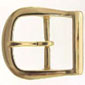 9946-1 Polished Solid Brass Belt Buckle 3/4""