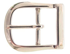 9946-3 NP Solid Brass Polished Nickle Finish  Belt Buckle 1 1/4""