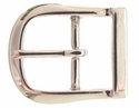 9946-5 NP Solid Brass Polished Nickle Finish  Belt Buckle 1 3/4""