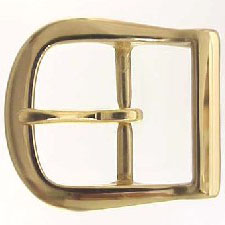 9946-5 Solid Brass Polished Brass Finish   Centerbar Belt Buckle 1 3/4""