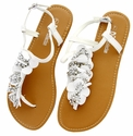 LSL-A13 White Women Summer Sandals Flip Flops