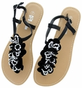 LSL-A15 Black Women Summer Sandals Flip Flops