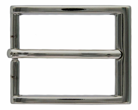 A581 Nickel Heel Bar Buckle 35mm Wide