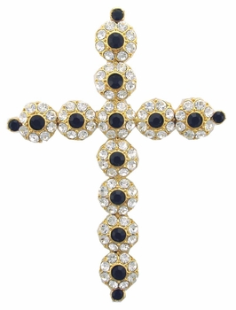 AB6609 Black Cross Pin
