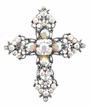 AB6812 AB Crystal  Cross Pin