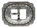 AC 2806 LASRP  Antique Silver Cart Buckle with Scalloped Edges 3/4""