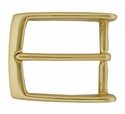 "AE-354 BOC Solid Polished Brass Belt Buckle Fit's 1 3/8"" Belt"
