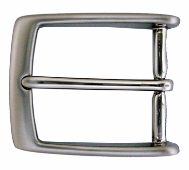 "AE-354 Solid Brass Nickle Brushed NB Belt Buckle Fit's 1 3/8"" Belt"