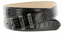 "Alligator Grain 1 1/8"" (30mm) wide Belt Strap - Charcoal"
