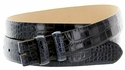 "Alligator Grain 1 1/8"" (30mm) wide Belt Strap - Navy"