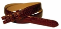 "Alligator Grain Belt Strap  1 1/8"" wide taper to 1"" wide"