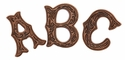 alphabet conchos Copper
