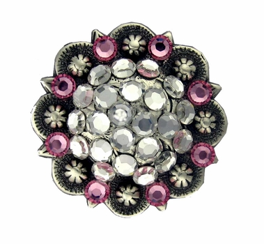 Berry Concho SRTP with Swarovski Rhinestones - Crystal and Rose