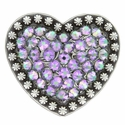Berry Heart Concho with Swarovski Rhinestone - Crystal Paradise Shine