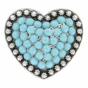 Berry Heart Concho with Swarovski Rhinestone - Turquoise
