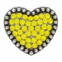 Berry Heart Concho with Swarovski Rhinestone - Yellow Opal