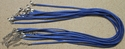 Blue Suede Leather Necklace Cords