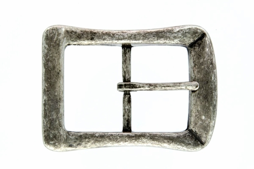 BM-07 Antique Silver Center Bar Belt Buckle