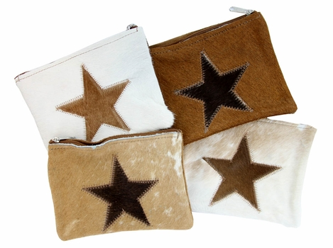 Brown Fur Star Cosmetic bag