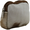 Brown&White Cattle Fur Coin Purse